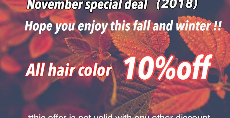 November Special Deal 2018 in VaNCOUVER