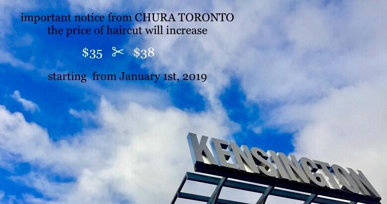 important notice from CHURA TORONTO   Chura Hair Salon
